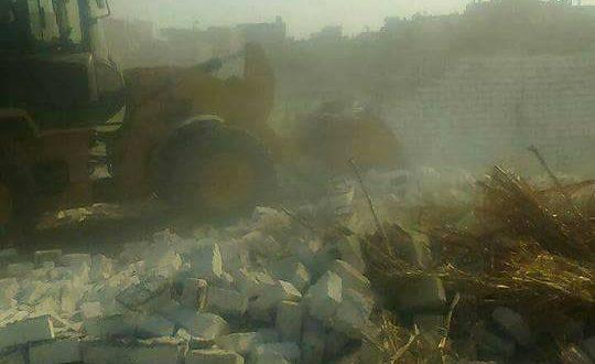 بالصور أزالة 62حاله تعدى على الأراضى الزراعية ببنى سويف