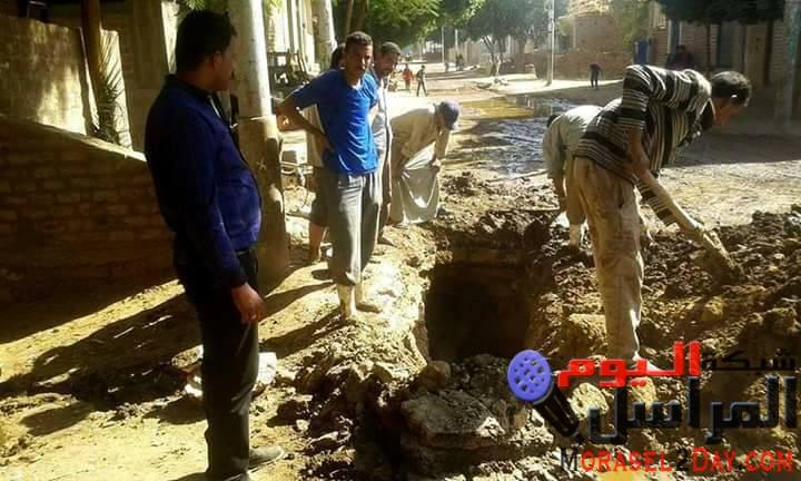 حملات للنظافة والتجميل بشوارع وقري مركز طما واصلاح خط مياه الرياينة المعلق التحرير