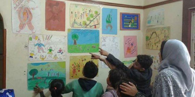 بيت ثقافة اجا يحتفل بعيد الطفولة بمعرض للفن التشكيلى بالدقهلية