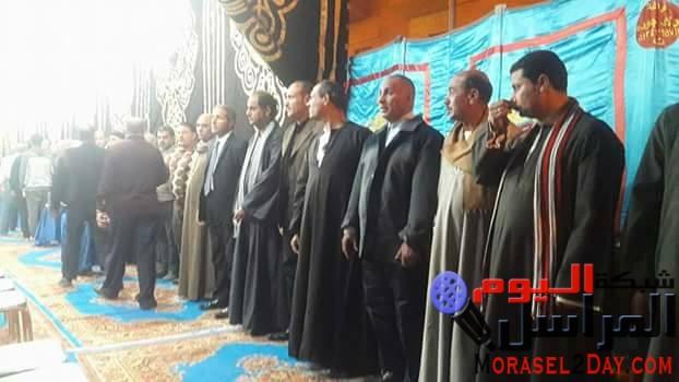 """بالصور..مستقبل وطن يقيم سرادق عزاء ل""""شهداء العريش"""" ببنى سويف"""