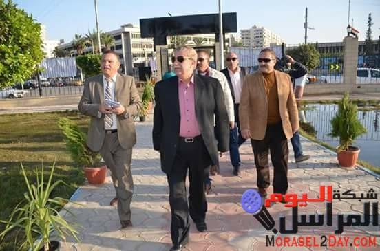 محافظ الاسماعيلية يتفقد حديقة الشيخ زايد و النافورة الراقصة