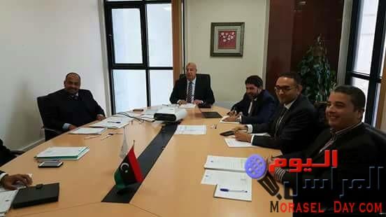 """العبيدي """" يجتمع بأعضاء محفظة ليبيا افريقيا للأستثمار بمقر المحفظة في برج طرابلس"""