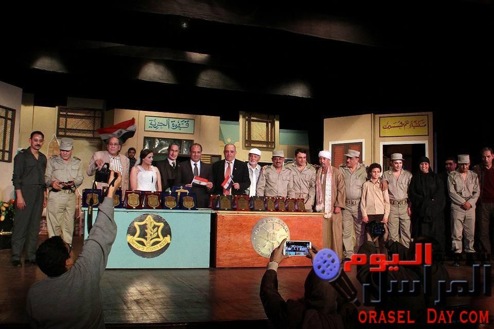 """تكريم الاتحاد الدولي للصحافة العربية لأبطال العمل المسرحي الوطني """"عبور وانتصار"""""""