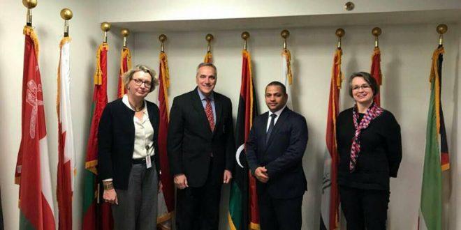 إدارة المؤسسة الليبية للأستثمار ومديرها التنفيذي مع مجموعة البنك الدولي في واشنطن