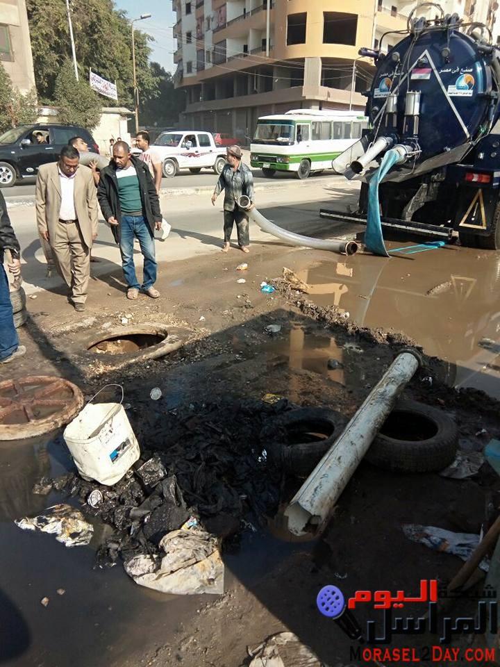 إصلاح عطل في مياه الشرب بمسطرد بحي شرق شبرا الخيمة