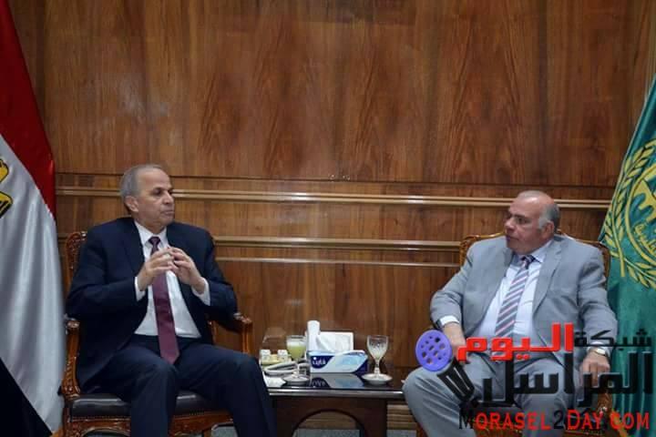 اللواء محمود عشماوي محافظ القليوبيةومدير الأمن يبحثا أهم الملفات الأمنية