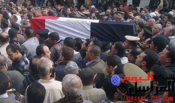 """""""كفر فرسيس"""" بالقليوبية تتشح بالسواد حزنا على إستشهاد أحد أبنائها بشمال سيناء"""