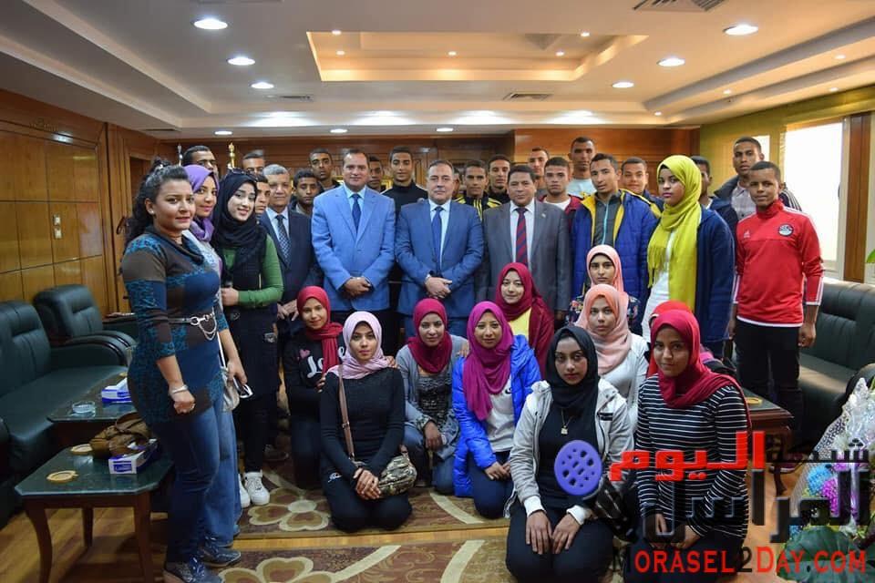 جامعة سوهاج تهنئ الشعب المصري والرئيس السيسي بذكري الثورة وأعياد الشرطة