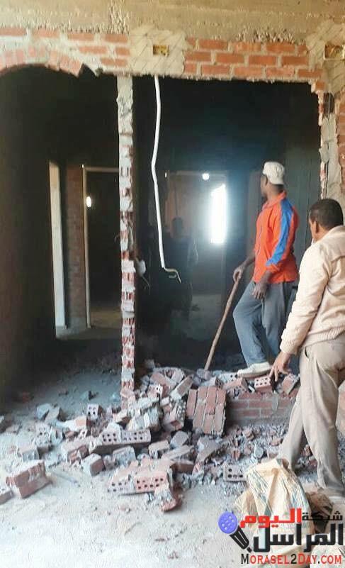 تنفيذ 20 قرار إزالة لمباني مخالفة في حملة مكبرة بحي شرق سوهاج