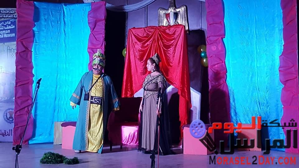 ،،ثقافة الدقهلية تختم احتفالاتها بالعيد القومى للمحافظة بعرض مسرحى وعرض موسيقى ،،