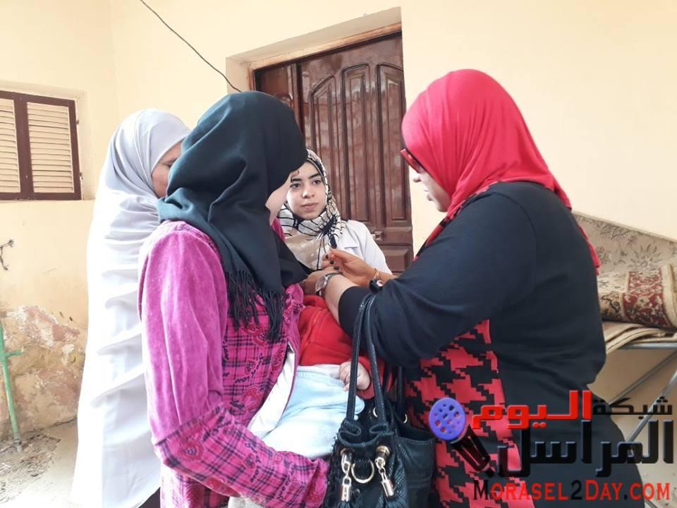 بالصور : كرنفال صحي جميل فى اليوم الثاني من حملة التطعيم