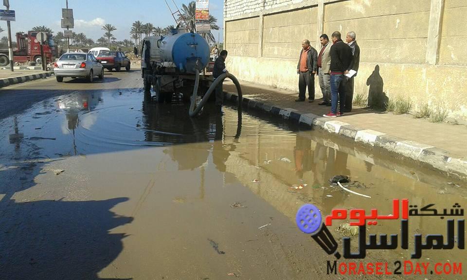 مجلس مدينة الخانكه يتخذ إجراءات لإزالة الطقس