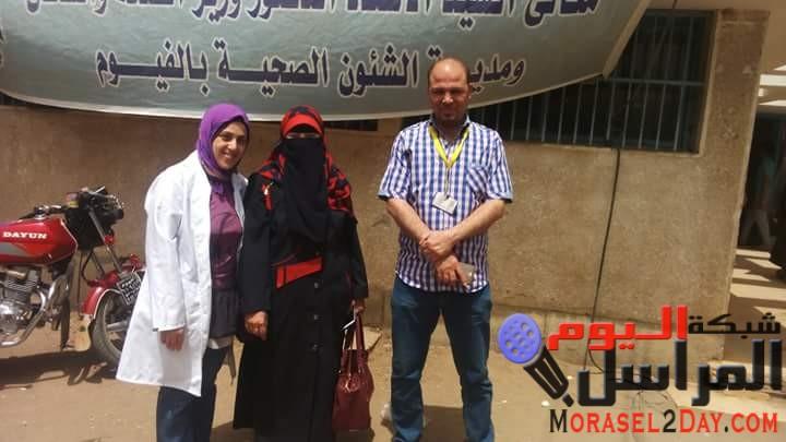 بالصور.. دكتورة أمل أمين تتفقد قافلة الكشف عن فيروس سي بالعجميين