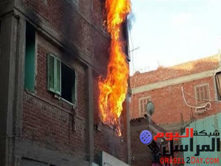 نشوب حريق هائل بمنزل بمنطقة عبد السلام عارف ببنى سويف