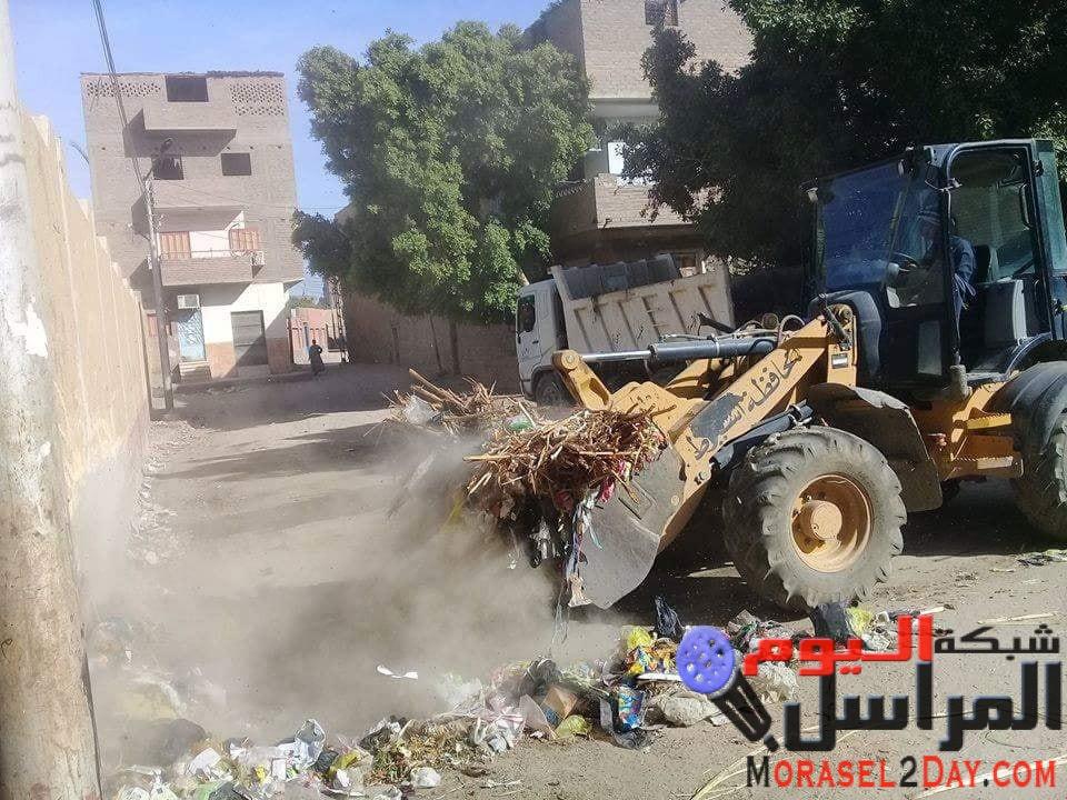 رفع 300 طن مخلفات وتجمعات قمامة خلال اسبوع باسيوط