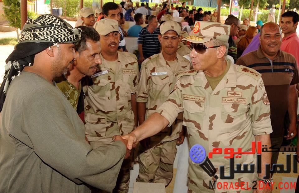 وزير الدفاع والإنتاج الحربى يزور عدد من مراكز التدريب التابعة للقوات المسلحة