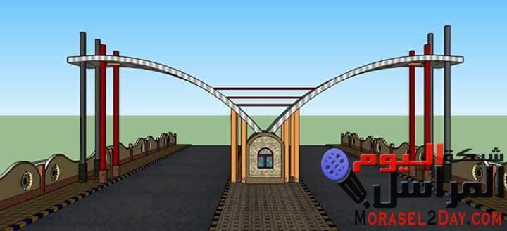 المنيا.. بدء انشاء بوابة المدخل الجنوبي لمدينة سمالوط