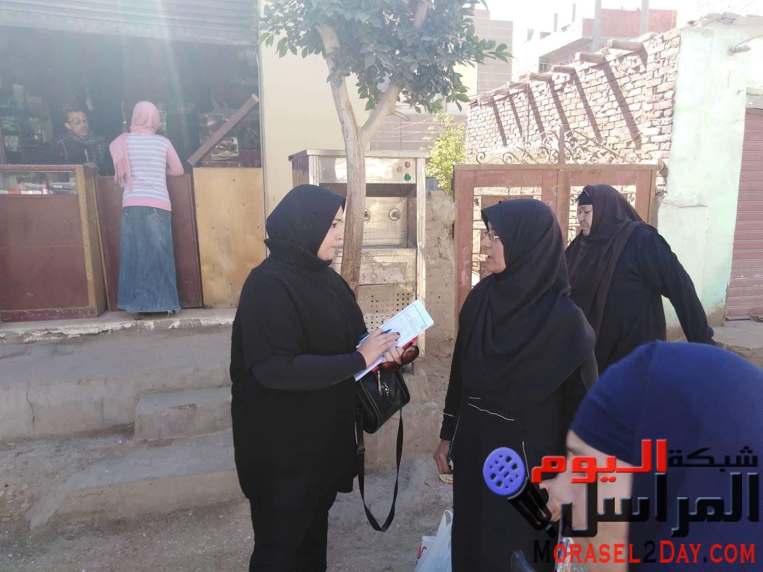 فعاليات اليوم الثانى للاسبوع المائى بقرية تلات تحت شعار كل نقطة بتفرق تنفيذ استطلاعات رأى وحملات طرق الأبواب