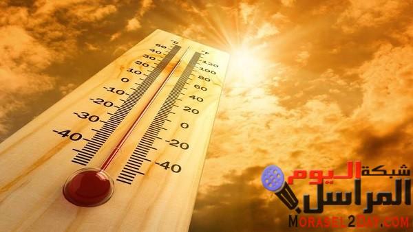 ارتفاع طفيف فى درجة الحرارة غدا