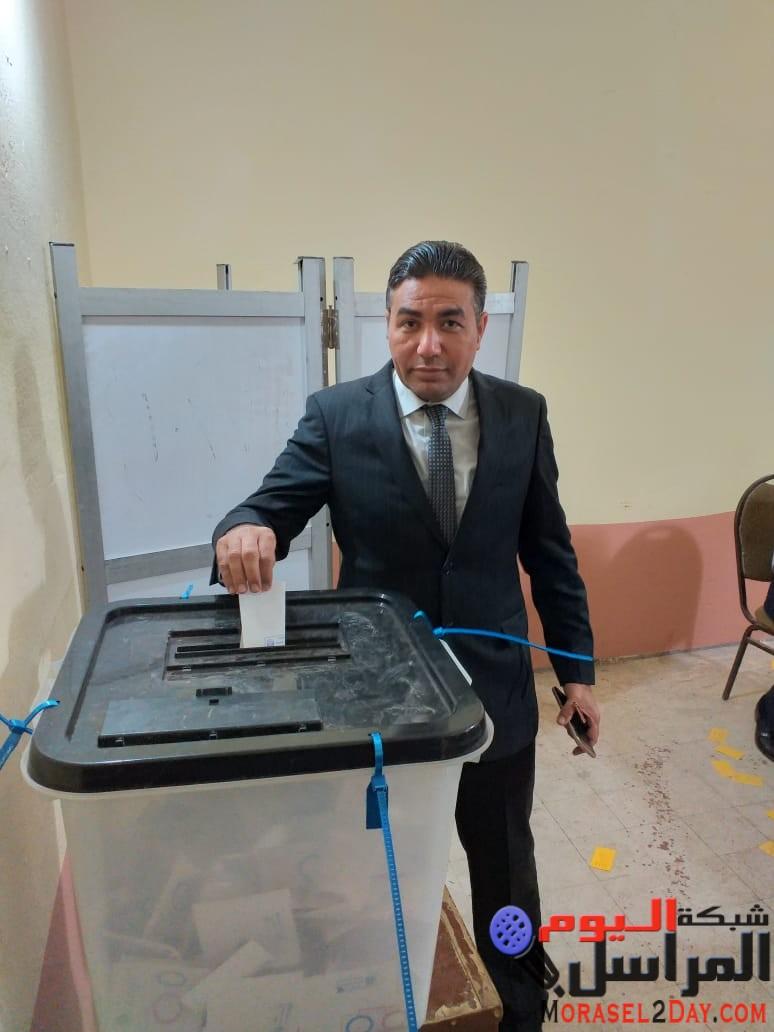 """رئيس """"صوت الشعب """" يدلي بصوته في """"بني سويف"""" ويؤكد على عظمة الشعب المصري"""