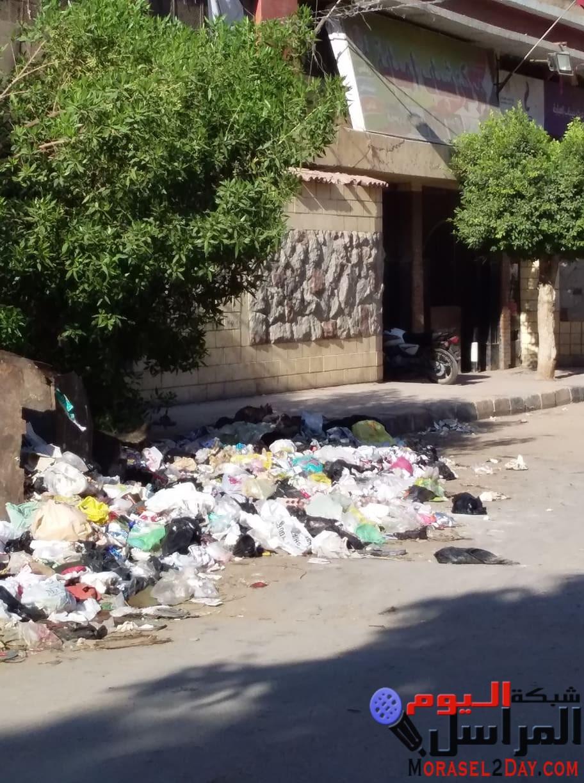 """إستياء سكان """"مدينة التحرير"""" بسبب إلقاء القمامة أمام مركز شباب إمبابة…صــــور"""
