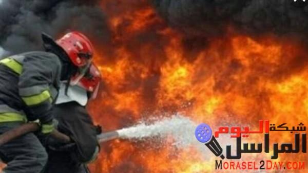 الدفع ب«3» سيارات إطفاء لإخماد حريق هائل في قرية بسوهاج.. اعرف التفاصيل