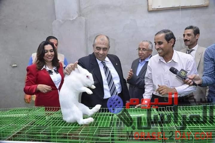 زيارة مفاجئة لوزير الزراعة في ختام جولته بدمياط الى محطة بحوث الإنتاج الحيوانى بالسرو