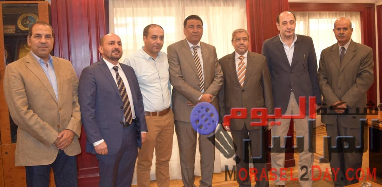"""وفد إقتصادي ليبي يهنئ """"العربي"""" برئاسة اتحاد الغرف التجارية المصرية"""