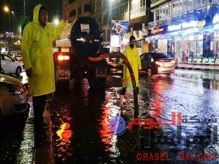 محافظة الاسكندرية تعلن الطواريء لمواجهة الأمطار الرعدية الغزيرة