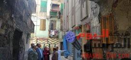 إخلاء 16 عمارة بمحيط عقار الإسكندرية المائل