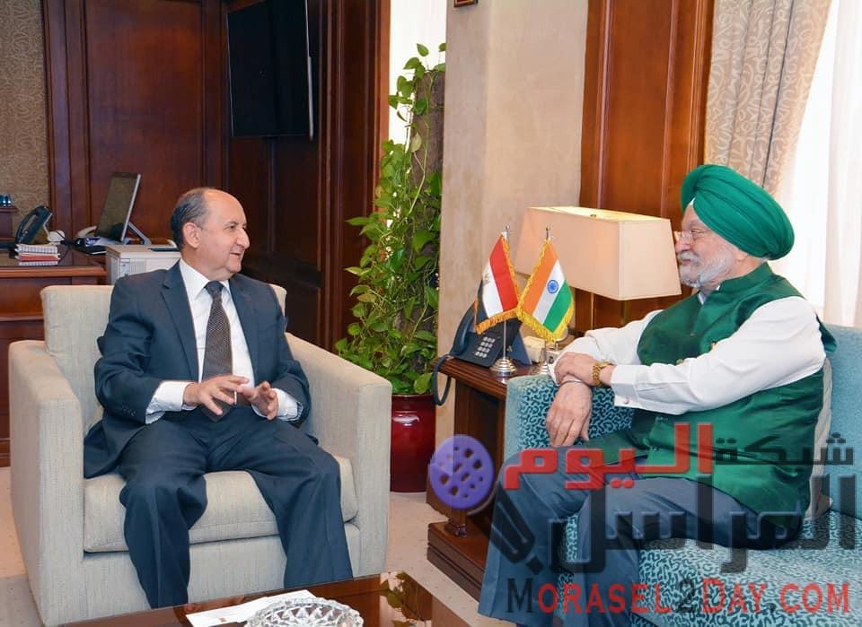 وزير التجارة والصناعة ونظيره الهندى يبحثان تعزيز التعاون الاقتصادى المشترك بين البلدين