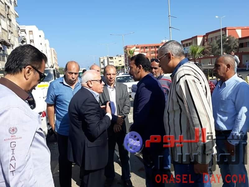محافظ بورسعيد يتابع أعمال التطوير ورفع الكفاءة بنطاق حى المناخ