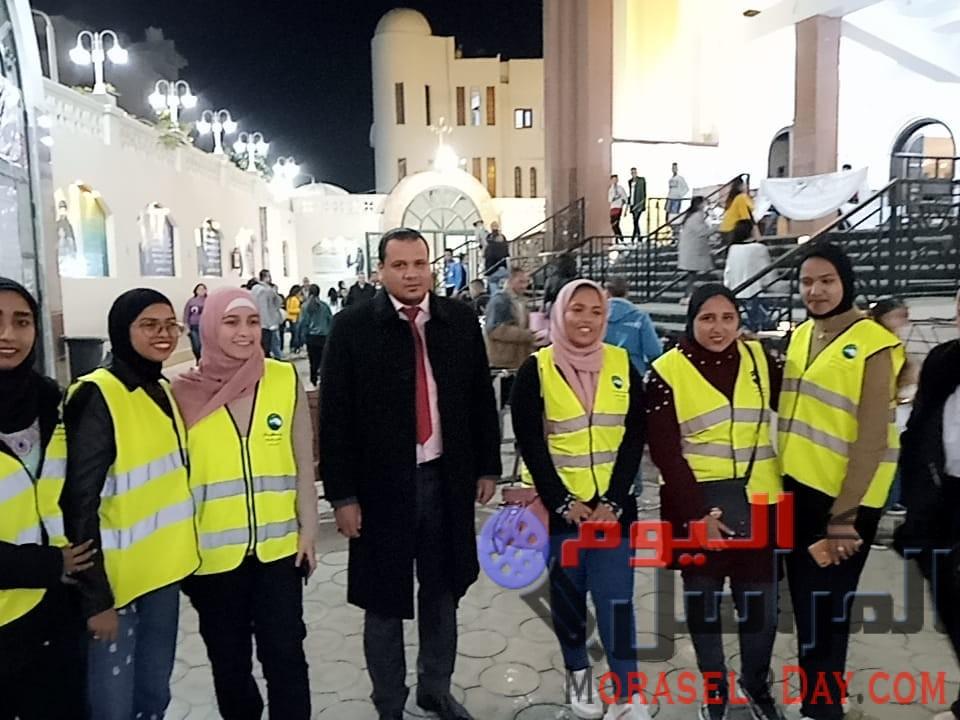 شباب مستقبل وطن البحر الاحمر يشارك في تأمين كنيسة الغردقة