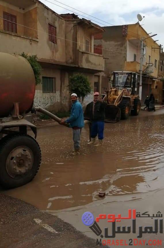 محافظ كفرالشيخ يتابع رفع مياه الأمطار ومستوى الخدمات بقلين