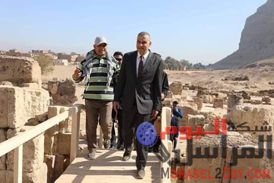 محافظ سوهاج يتفقد معبد (إتريبس) ومحطة صرف وحديقة عامة