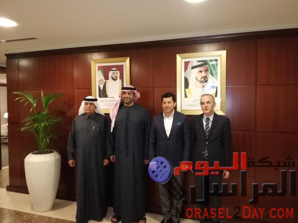 صبحى يحضر دورة الألعاب للأندية العربية للسيدات بالشارقة