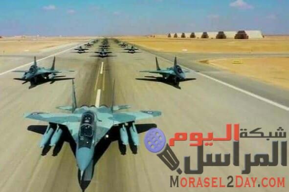 طائرات حربية مصرية بقاعدة برنيس العسكرية