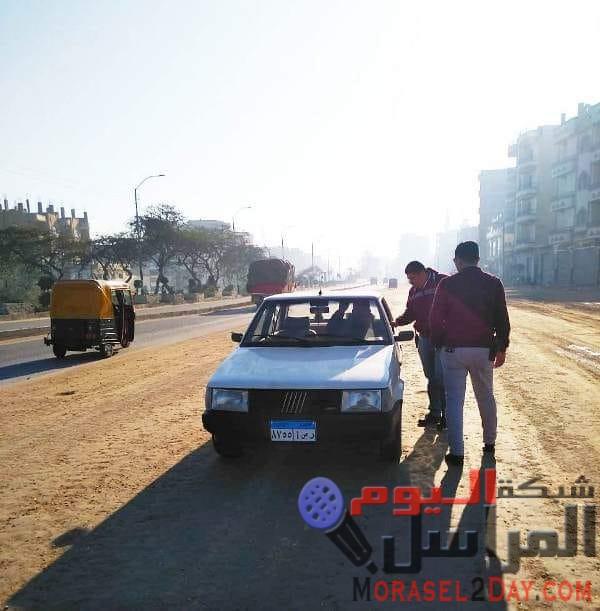 دغراب يضبط سيارة ملاكي تسير عكس الاتجاه بطريق أبو حماد /الزقازيق