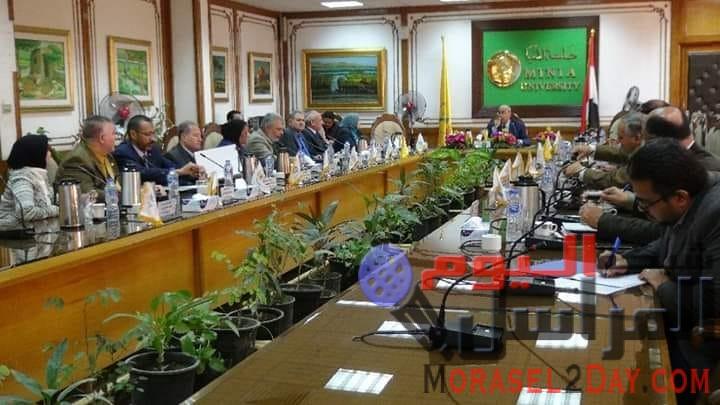جامعة المنيا تتبع التجهيزات اللازمة لبدء الترم الثانى للدراسة