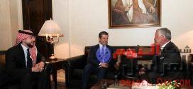 مسرور بارزانى وملك الأردن يناقشان تعزيز العلاقات الثنائية