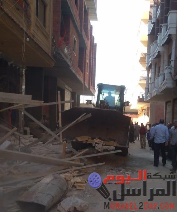 تنفيذا لتوجيهات محافظ بني سويف : السكرتير المساعد يقوم بحملة متابعة لمواجهة أية مخالفات بناء بمركز ومدينة الواسطى