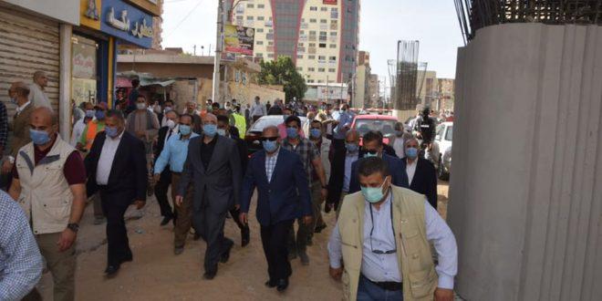 وزير النقل ومحافظ بنى سويف يتفقدان العمل بمشروع كوبرى مزلقان المديرية