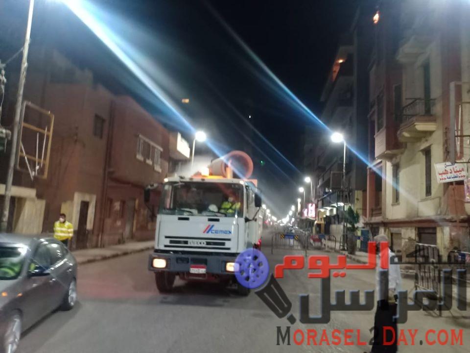 محافظ أسيوط: تواصل حملات تطهير ورش الشوارع والميادين بالقرى والمراكز للوقاية من فيروس كورونا