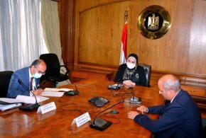 وزيرة التجارة والصناعة تبحث مع وزير تجارة الاتحاد الأوراسى إستئناف مفاوضات التجارة الحرة بين مصر ودول الاتحاد