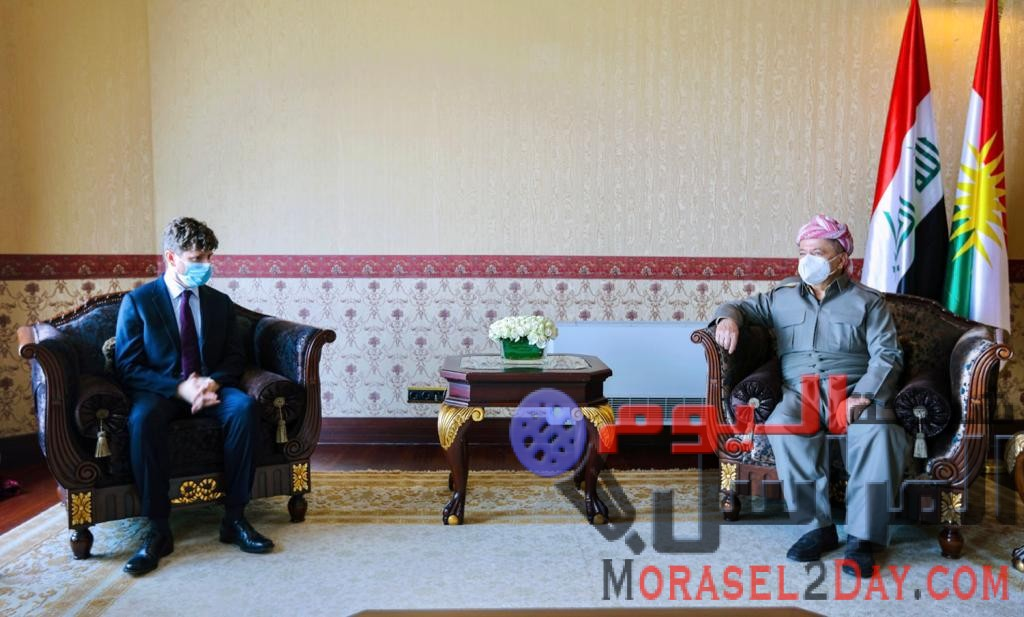 بارزاني يستقبل القنصل الفرنسي في أربيل