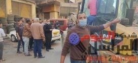 بالصــور..حملة لإزالة الإشغالات بشوارع إمـــــبابــــة