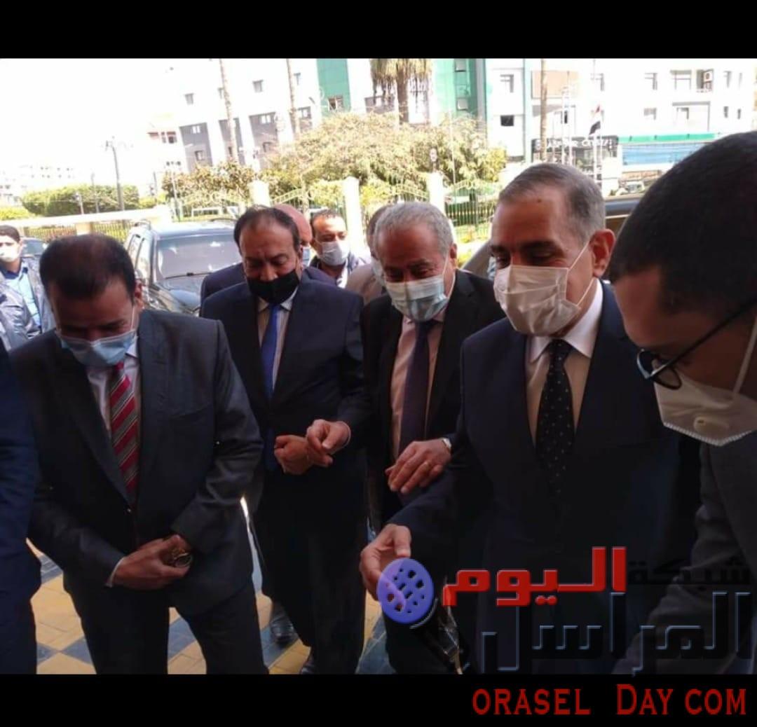 محافظ كفر الشيخ يستقبل  ووزير التموين لتفقد عدد من المشروعات الخدمية