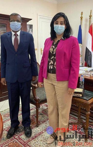 غادة شلبي مع سفير دولة سيريلانكا بالقاهرة لمناقشة تعزيز سبل التعاون في مجال السياحة