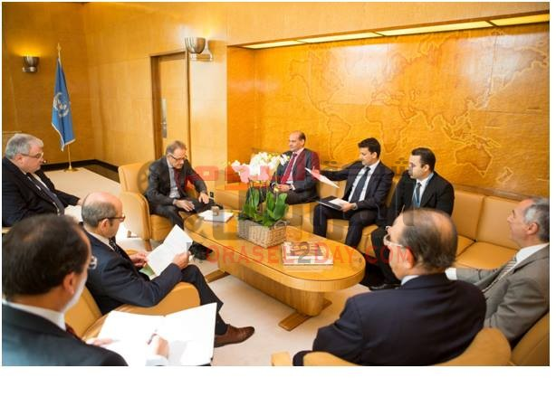 اجتماع السفير ابو العينين مع الأمين العام للاتحادالدولي للاتصالات في المقرالرئيسي بجنيف