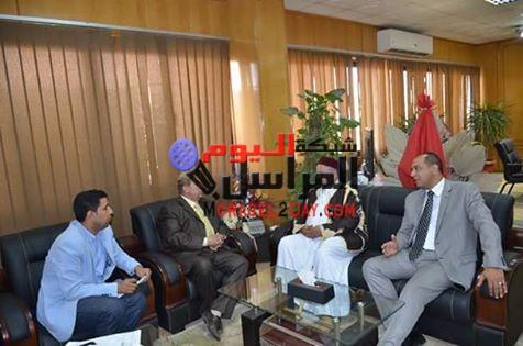 محافظ الاسماعيلية يستقبل نائب الرئيس الليبى ومنسق العلاقات المصرية الليبية